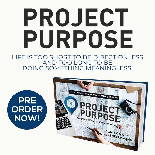 Pre-Order Project Purpose Book