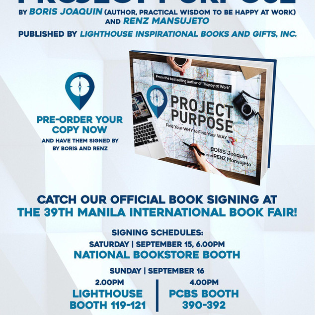 Project Purpose Book Signing Schedules