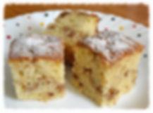 Мягкий кекс с грецкими орехами внутри   и хрустящей карамельной корочкой сверху.