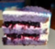 Лавандовый торт с черникой