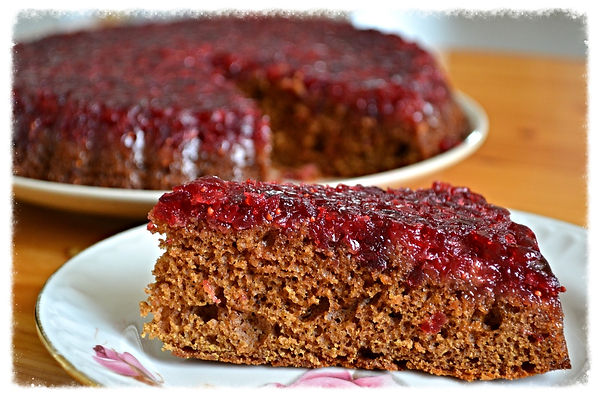 Клюквенно- имбирный пряничный пирог. Домашняя выпечка Светланы Коноваловой