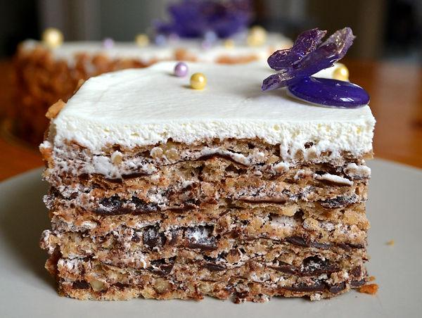 Итальянский торт с грецкими орехами
