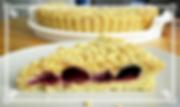 Тарт-крамбл с фруктами