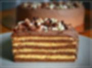Шоколадно-карамельный торт   Рецепт австрийского шеф-кондитера Карла Шумахера. Тонкий шоколадный бисквит с карамельными взбитыми сливками и трюфельным кремом. Образец элегантности и гармонии вкуса. Торт низкокалорийный. Домашняя выпечка Светланы Коноваловой