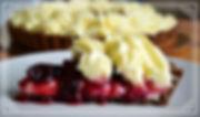 Тарт с клюквой и муссом из белого шоколада, Домашняя выпечка Светланы Коноваловой