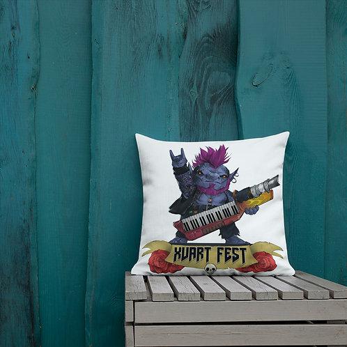 Xvart Fest Pillow - White