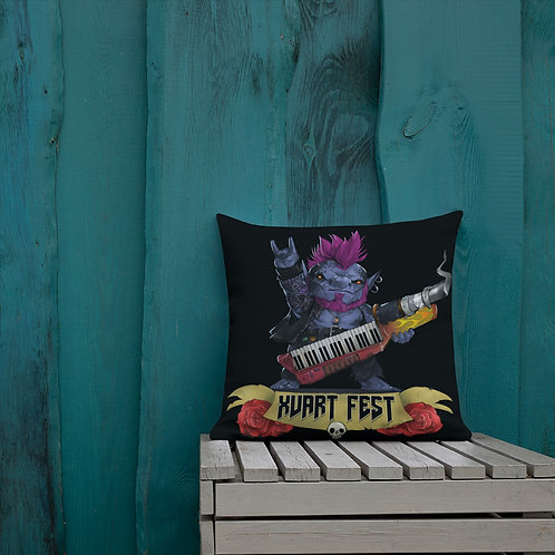 Xvart Fest Pillow - Black