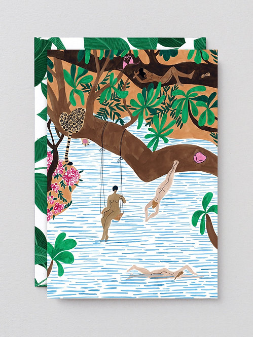 Jungle Beach - Art Card