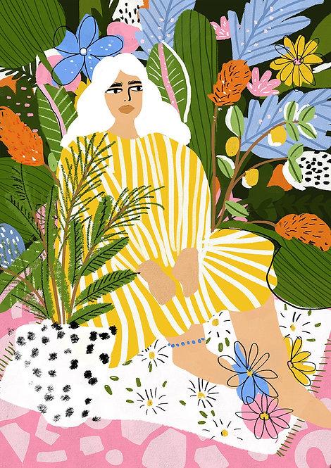 The Jungle Lady Print