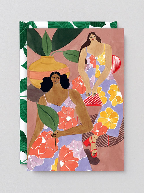 Floral Girls - Art Card