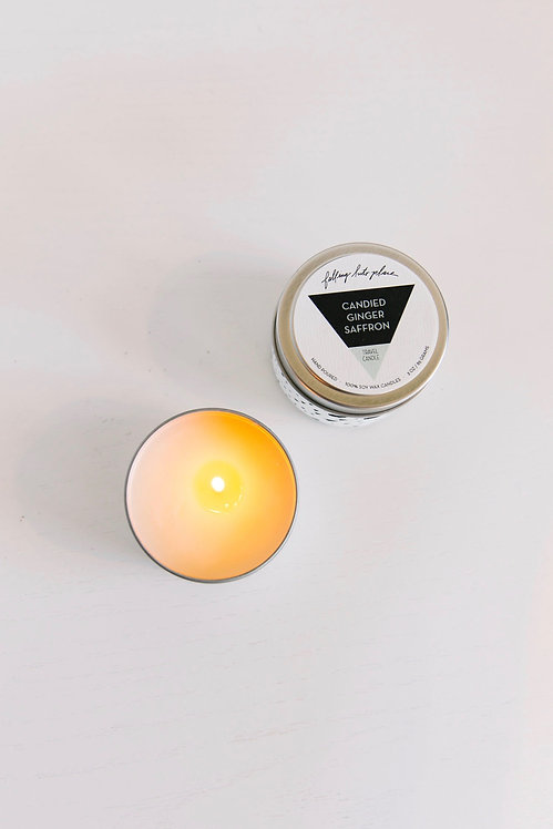 Candied Ginger Saffron Travel Candle