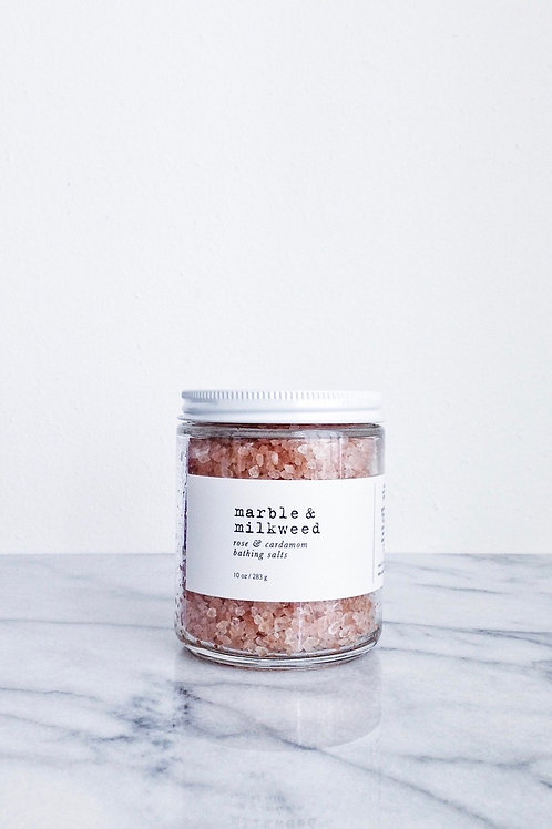 Rose & Cardamom Bath Salts