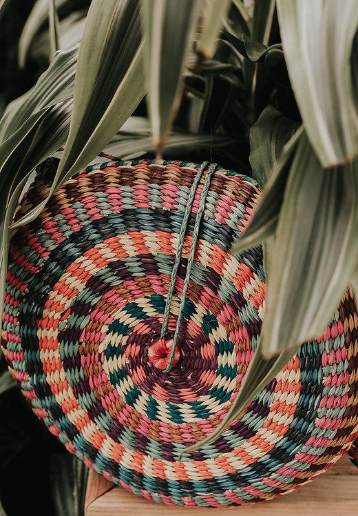 Esmeraldas Woven Circle Bag