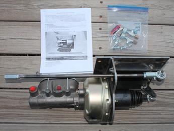 Under Crossmember Mounted Power Brake Booster Master Cylinder Assembly