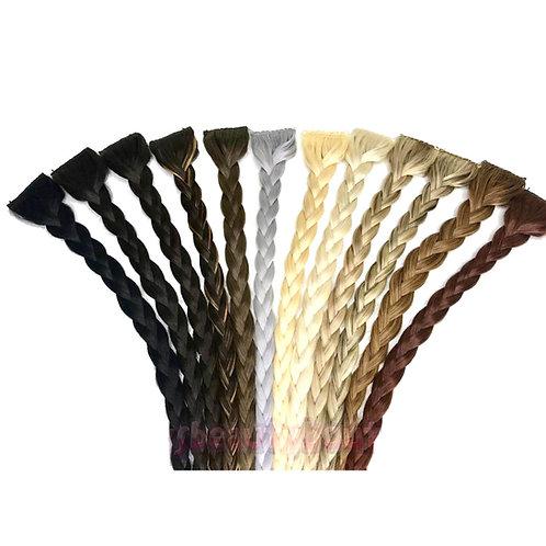 WIDE Clip-in Braids 100% Human hair