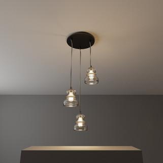 Luminária de Teto Vidro