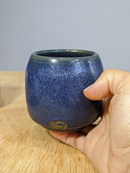 Copo amassadinho Azul e TerraCota