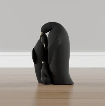 Estátua Familia de Pinguins