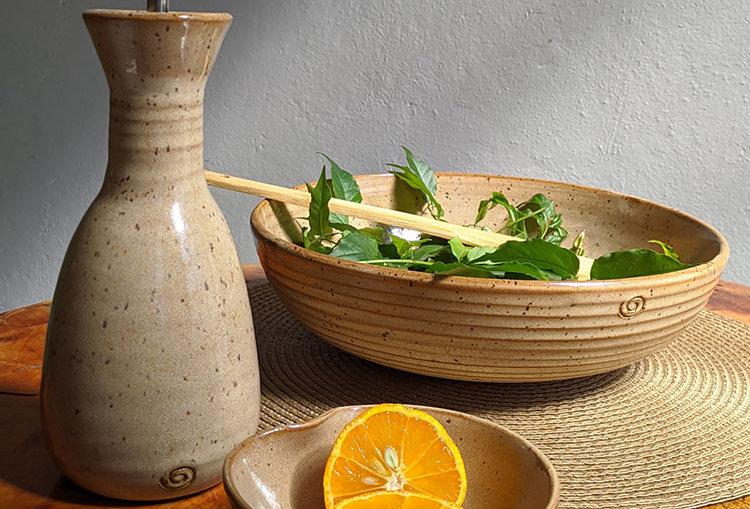 Kit Azeiteiro + Saladeira e Bowl