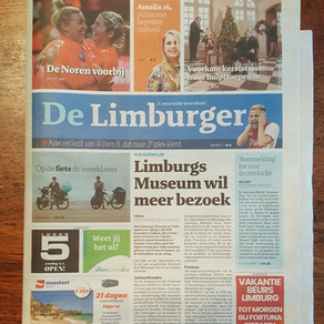 Frontpage newspaper De Limburger