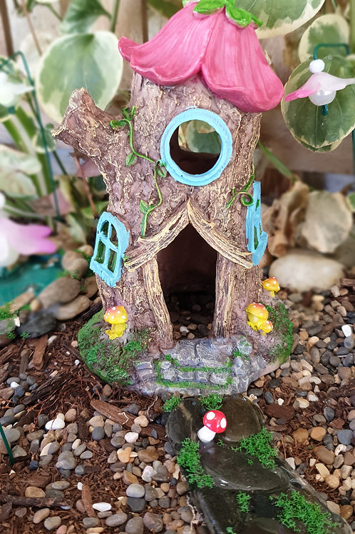 Stump and flower home