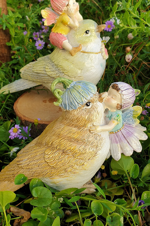 Sweetpea fairies with birds