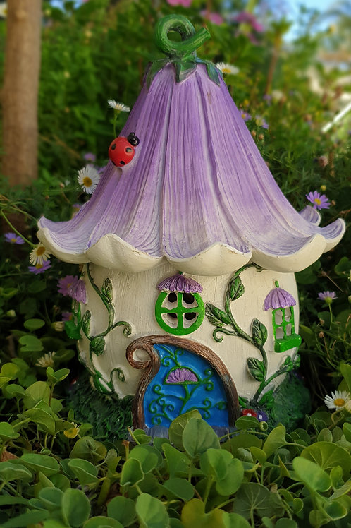 Purple Fairy House with vines