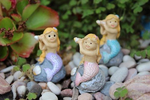Mini Mermaid on a rock