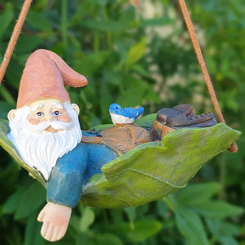 Gnome on leaf swing