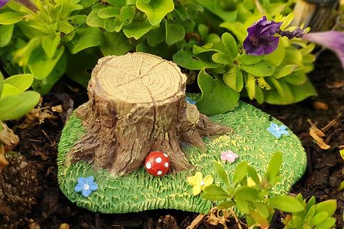 Tree stump decoration