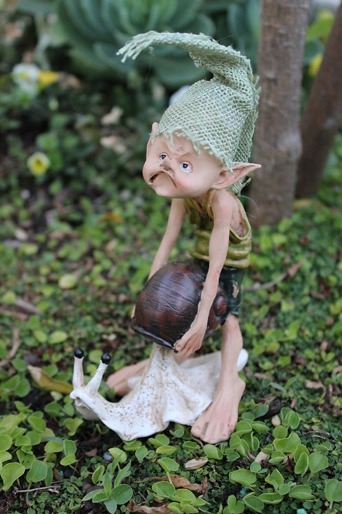 Pixie with snail