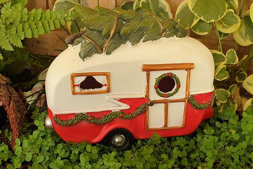 Caravan with Chrissie tree