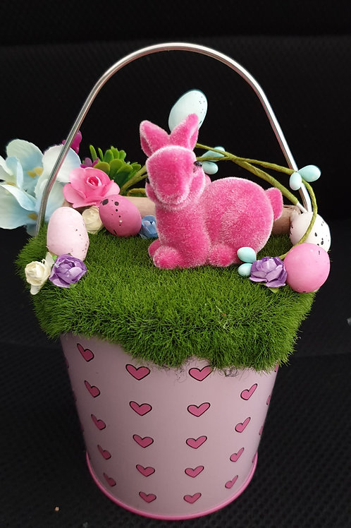 Pink bunny bucket