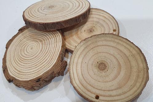 Round wood chips