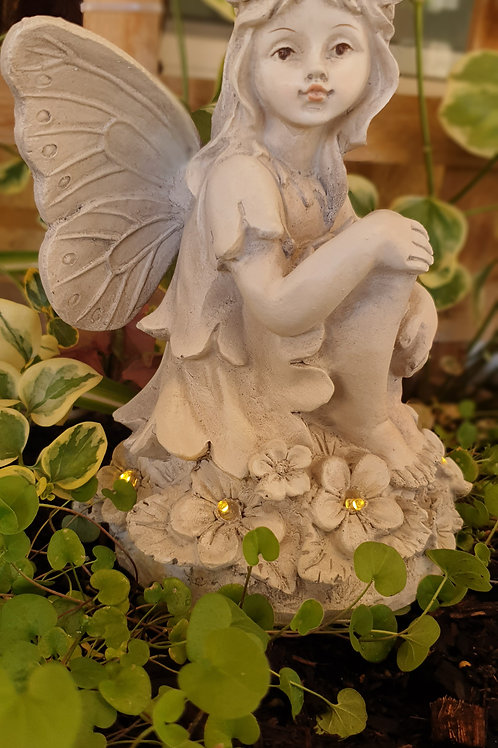 Garden fairy with LED lights