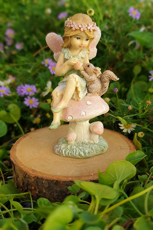 Fairy Lila with Squirrel
