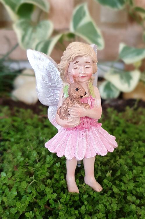 Fairy Viola and pet bunny
