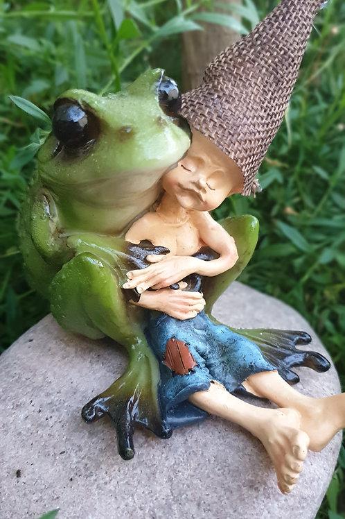 Frog hugging Pixie