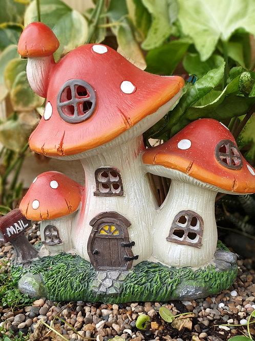 Red mushroom solar house