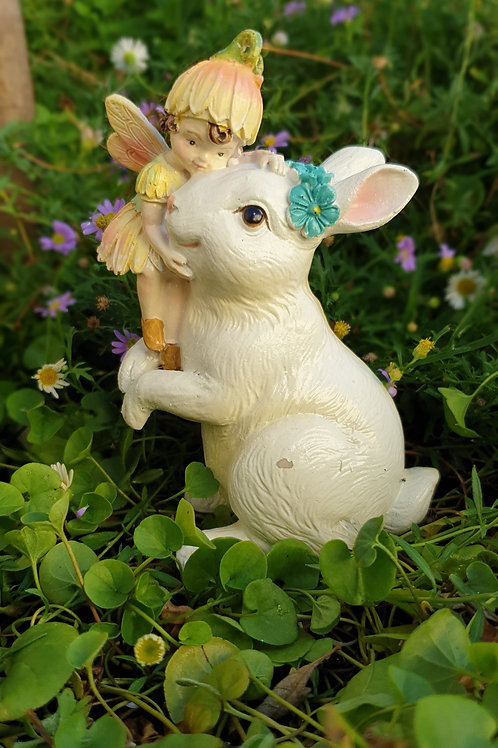 Sweetpea fairy with Bunny