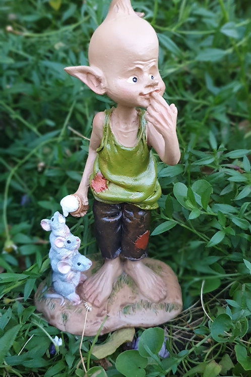 Pixie Paul with mice