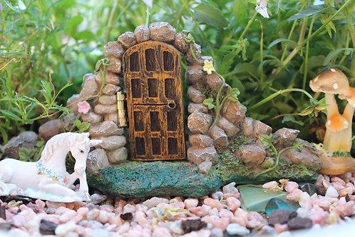 Fairy Garden Door with stone Arch