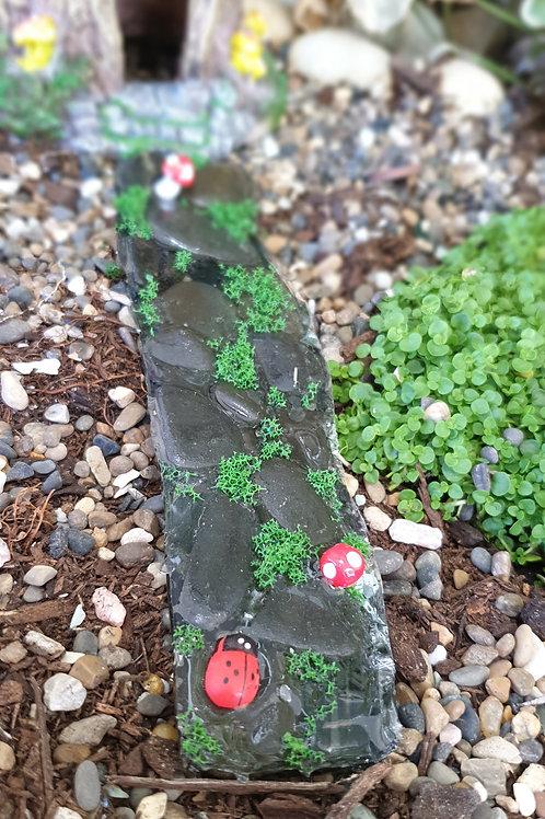 Resin stone path