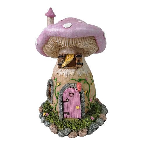Lilac mushroom house