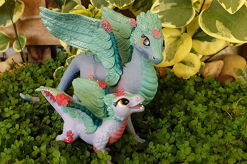 Flower Dragon and baby set