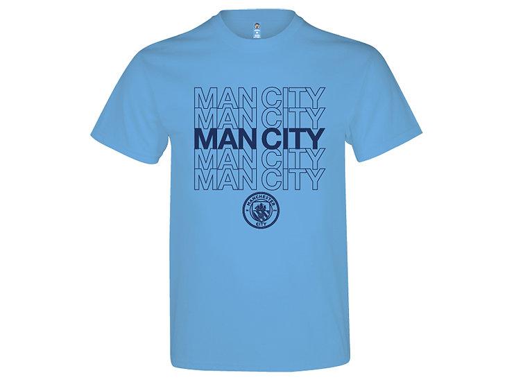 Manchester City crest cotton lifestyle t-shirt.