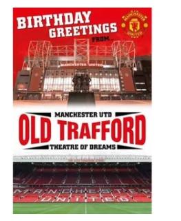 Danilo ManUnited stadium pop up greeting card