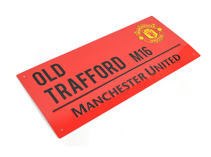 Manchester United street sign