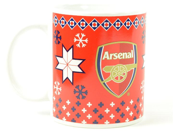 Arsenal Christmas mug