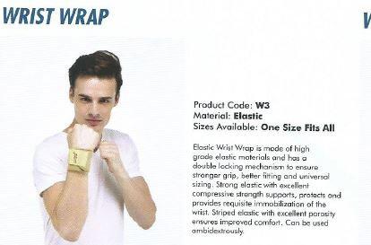 Accusure wrist wrap elastic